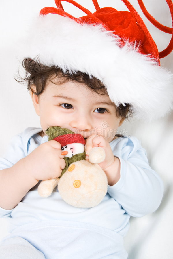 Download Christmas baby stock image. Image of innocent, gentle - 7764483