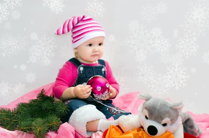 Christmas baby royalty free stock photos