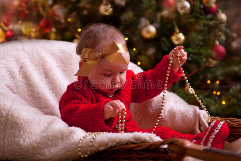 Christmas Baby Portrait Royalty Free Stock Image