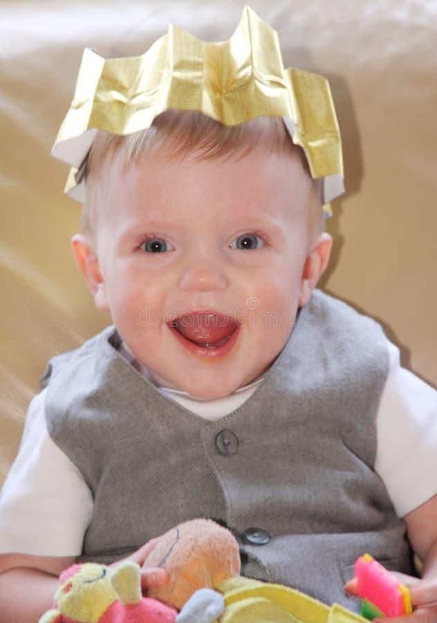 Christmas Baby Smiling stock photos