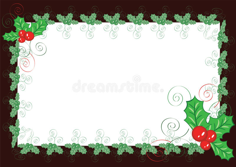 Christmas backgound-frame royalty free illustration