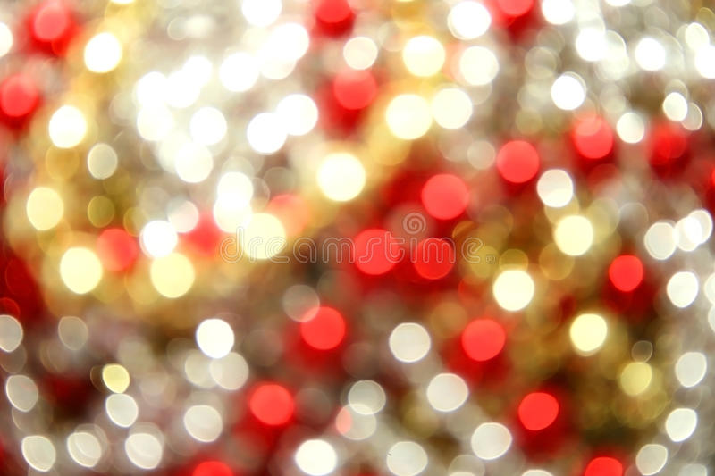 Christmas background. Christmas yellow,red,white lights background stock photo