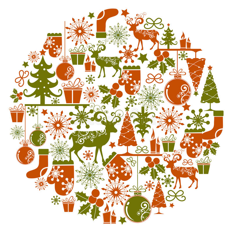 Download Christmas background stock vector. Image of flower, abstract - 11453354