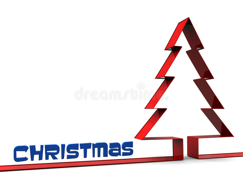 Christmas background. Abstract 3d illustration of simple christmas background stock illustration