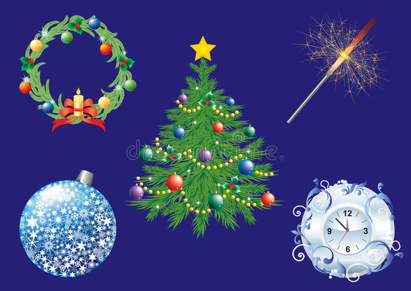 Download Christmas background. stock vector. Image of items, background - 21249373