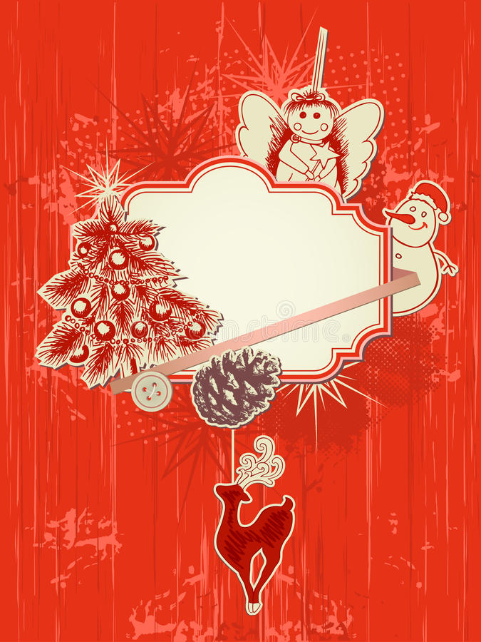 Christmas background. Vector scrap booking kit for Christmas royalty free illustration