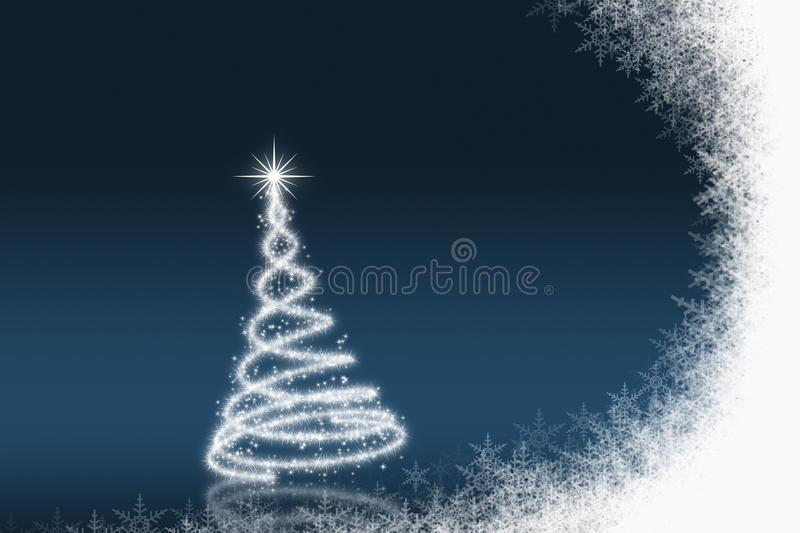 Christmas background. White & Blue color Christmas background, illustration stock illustration
