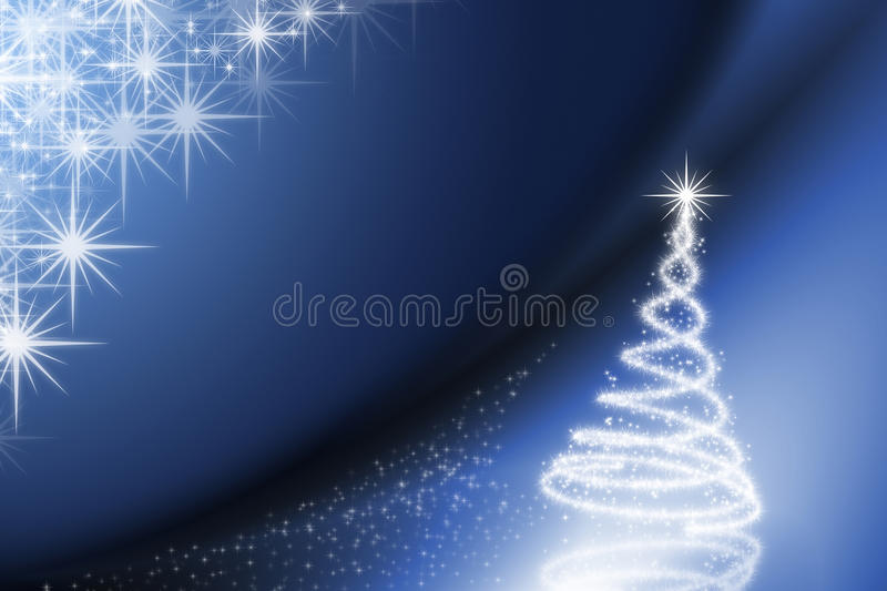 Christmas background. White & Blue color Christmas illustration with stars in background vector illustration