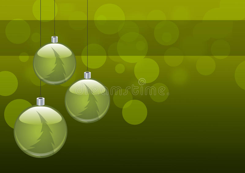 Christmas background. Simple green christmas decoration illustration vector illustration