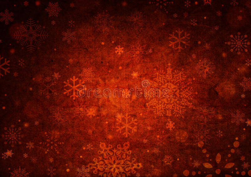 Christmas background. Snowflakes over red christmas background vector illustration