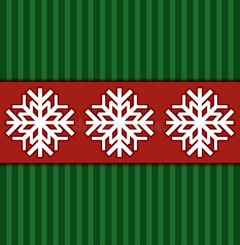 Christmas background. Abstract Christmas background with snowflackes stock illustration