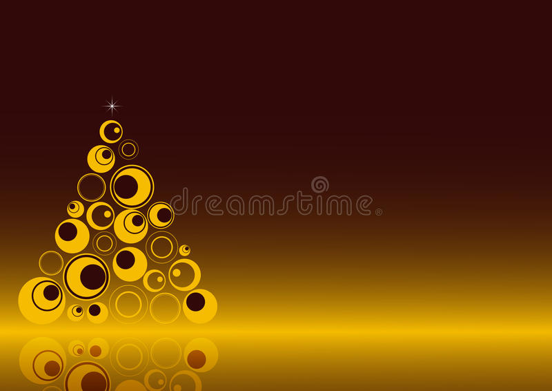 Christmas background 3. A simple christmas background with a retro tree and the own reflex.EPS file is available stock illustration