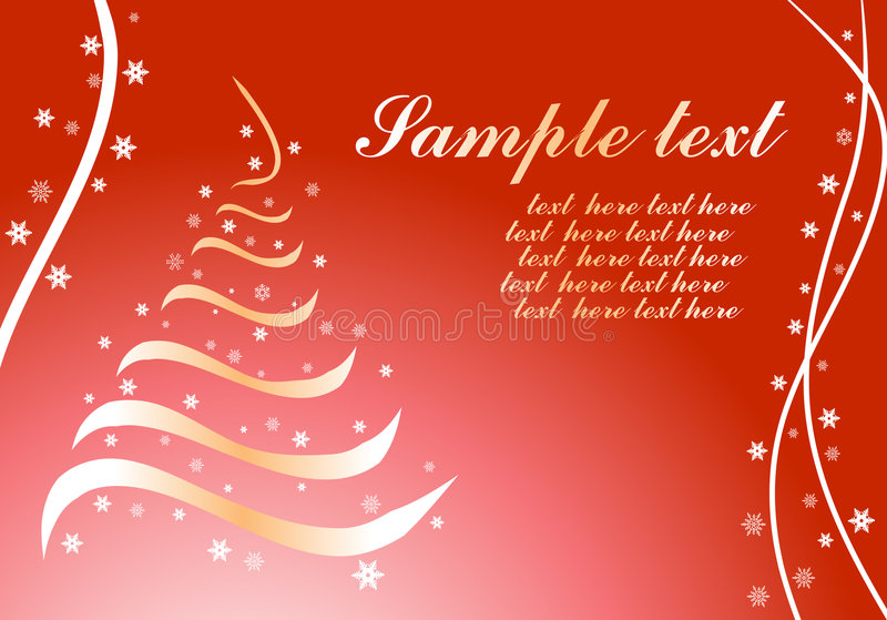 Christmas background. On red background vector stock illustration