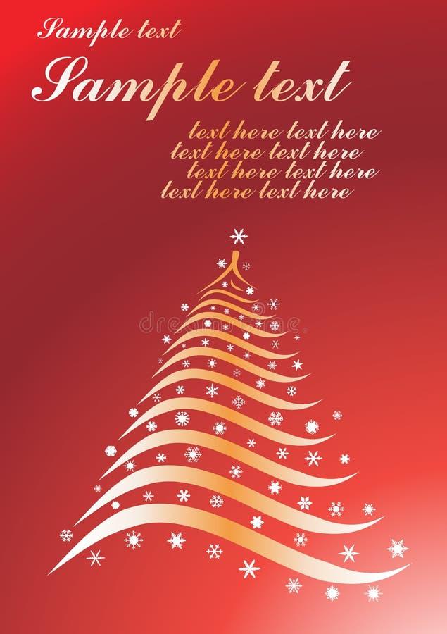 Christmas background. Vector illustration on rde background vector illustration