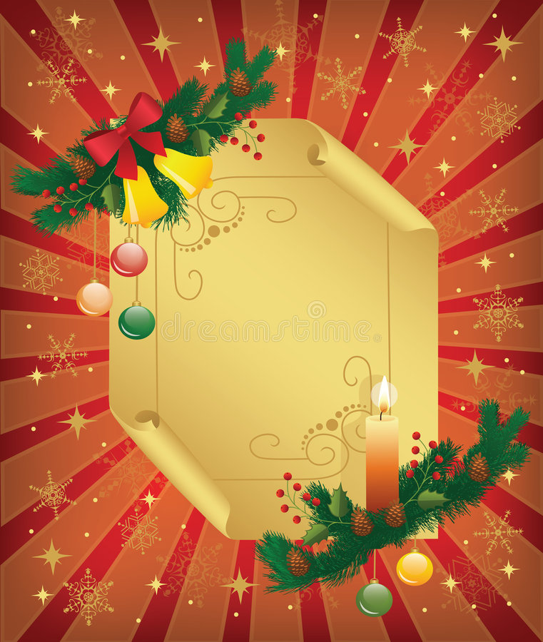 Christmas_background illustrazione vettoriale