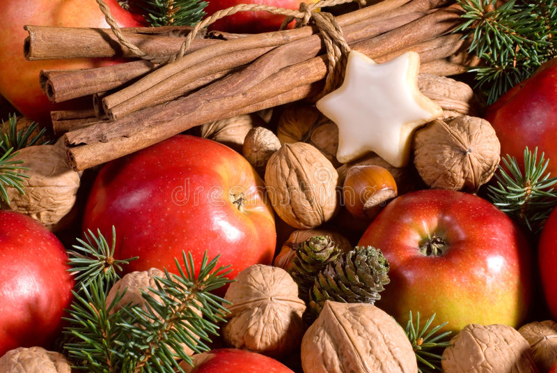 Download Christmas background stock image. Image of apples, horizontal - 7350737