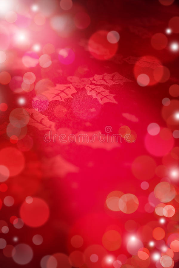 Christmas Red Lights Background stock image
