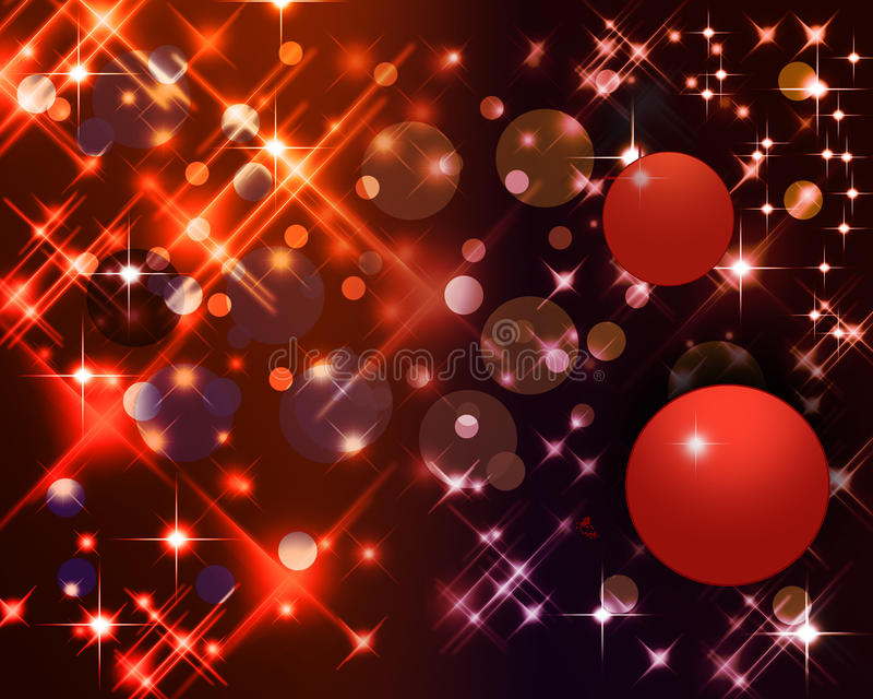 Christmas background. Christmas abstract background with stars and bauble vector illustration