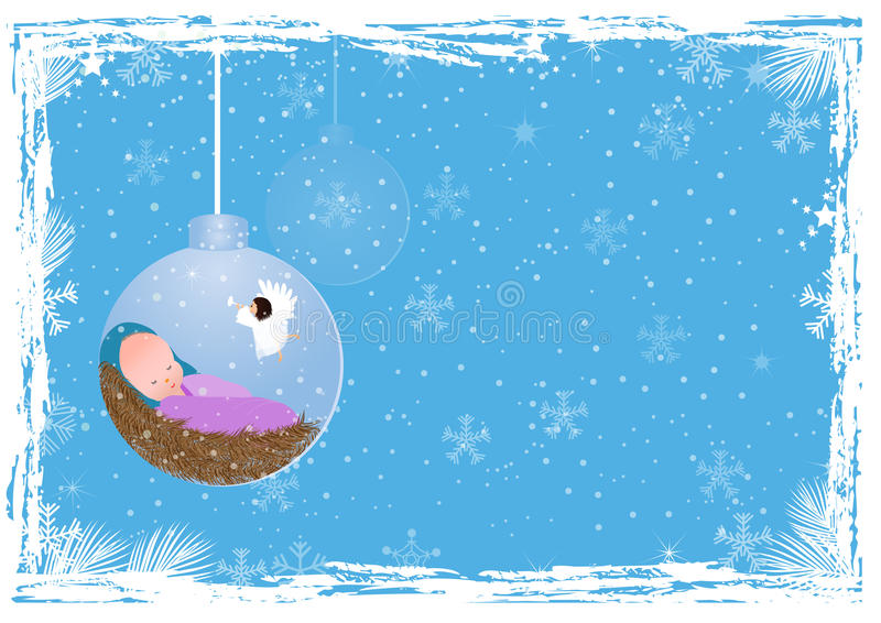 Download Christmas Background With Baby Jesus Stock Vector - Image: 34615379
