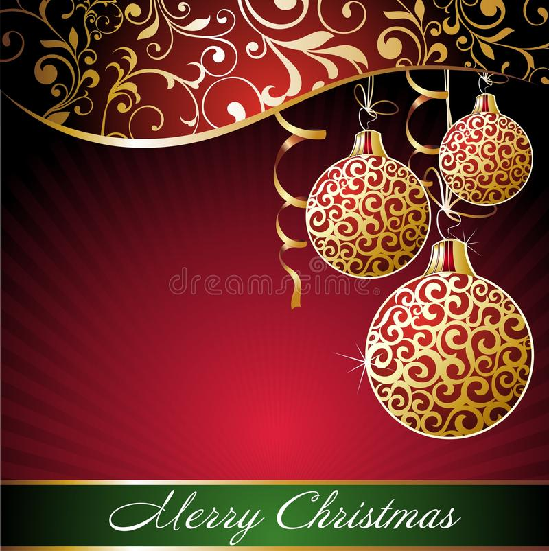 Download Christmas Background With Balls Stock Vector - Illustration: 17229239