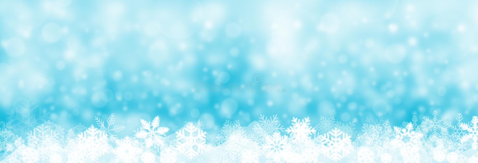 Christmas background banner, snow and snowflake illustration , vector illustration