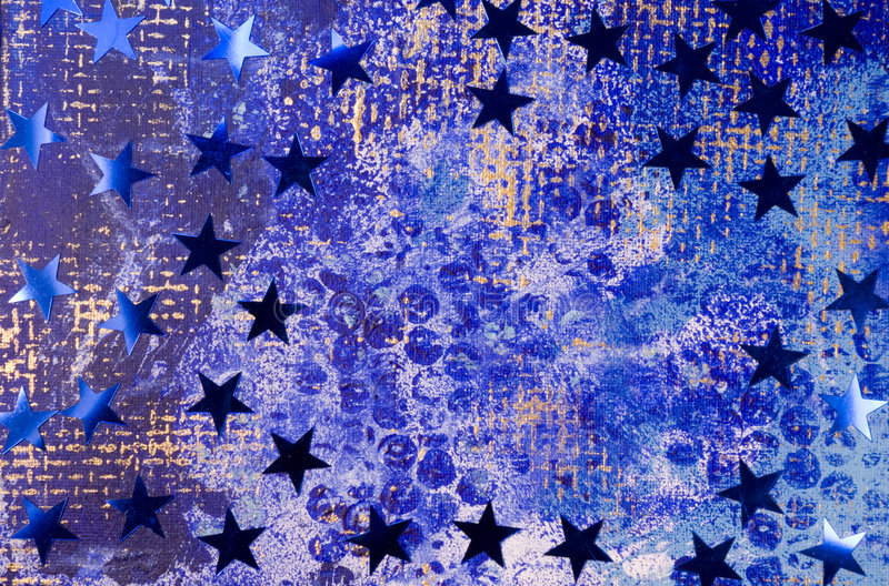 Christmas Background with blue. Stars royalty free stock image