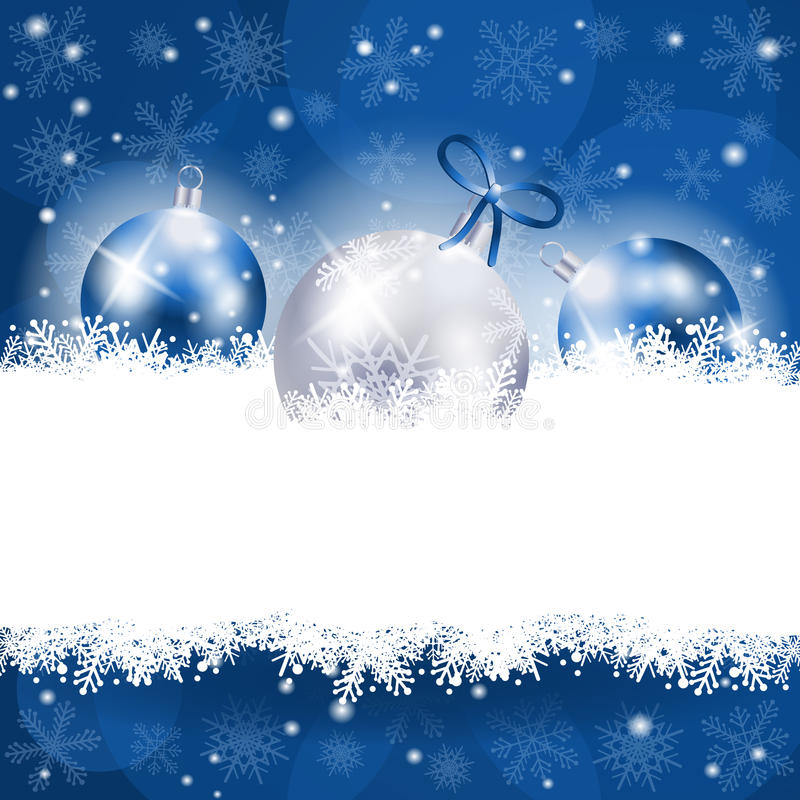 Christmas background in blue with copy space. Illustration vector illustration