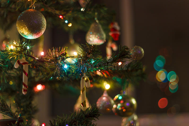 Christmas background with blur 1. Christmas background with blur effect and bokeh royalty free stock photo