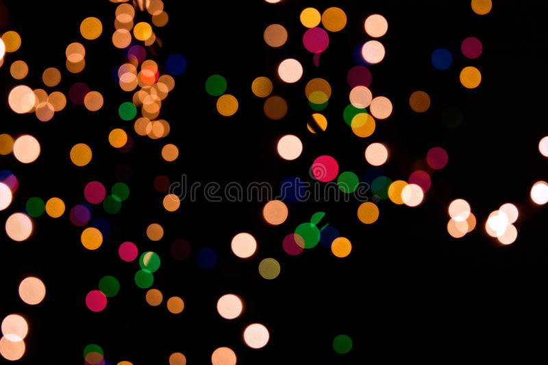 Download Christmas Background Of Blurred Lights Stock Image - Image: 12121373