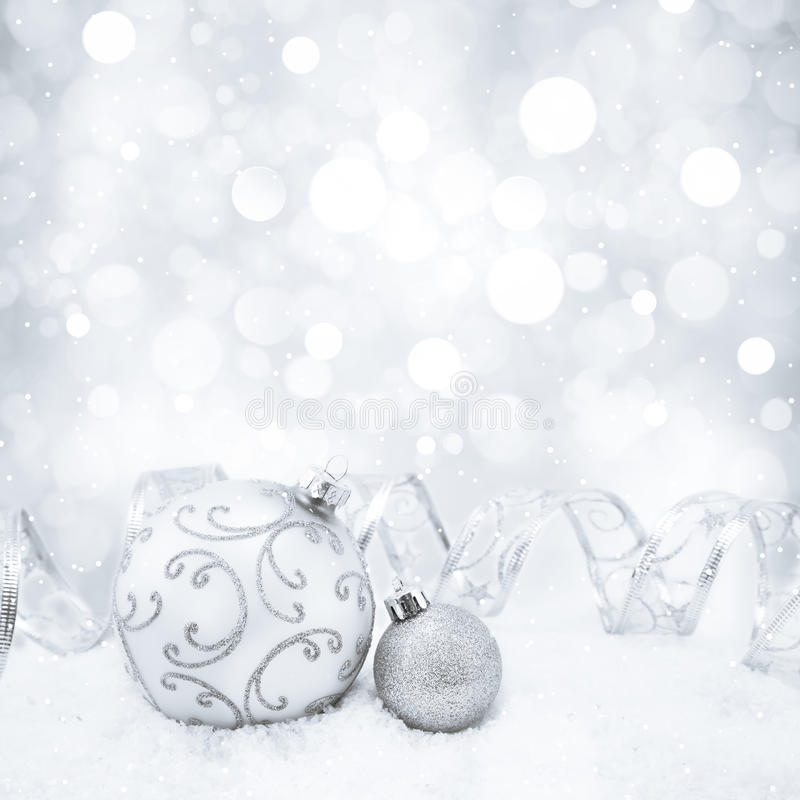 christmas background with bokeh lights and snowflakes stock photos