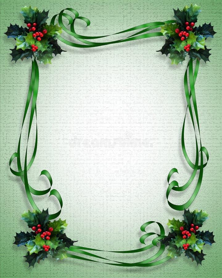 Christmas background Border holly stock illustration