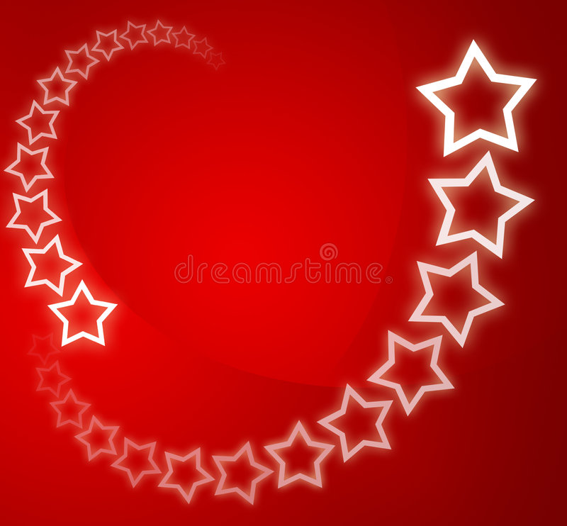 Christmas background / card. Red christmas background / card with white stars royalty free illustration
