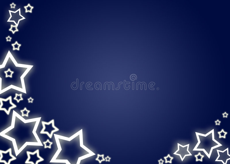 Christmas background / card. Blue christmas background / card with white stars stock illustration