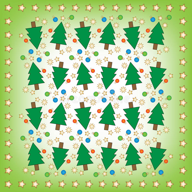 Christmas Background With Christmas Trees And Star Stock Photos