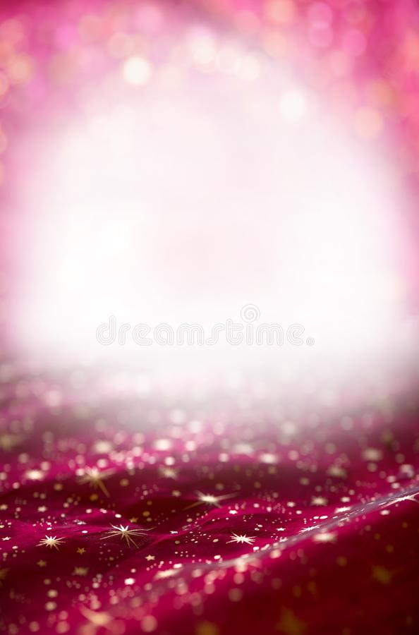 Christmas background with circles and stars, white copy space royalty free stock photo