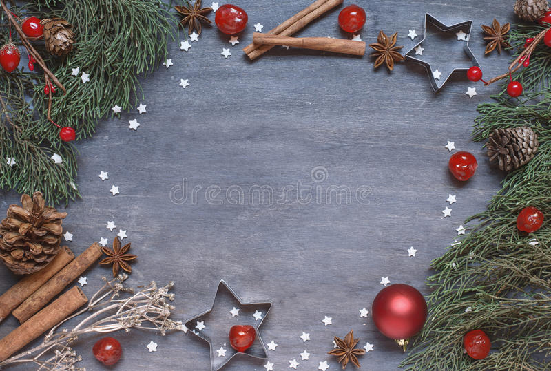 Christmas background with cone royalty free stock image