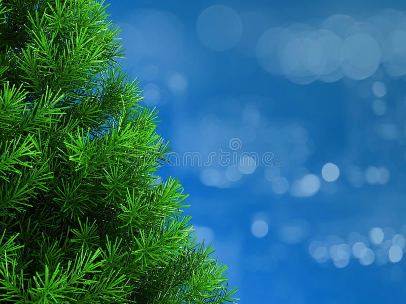 Christmas background. 3d illustration of christmas background with space for text royalty free illustration