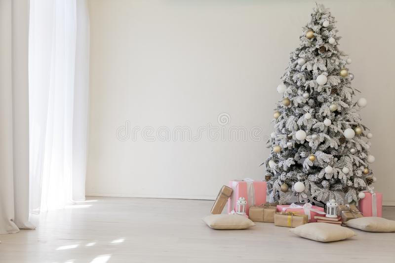 Christmas background Christmas decoration gifts toys snowflakes royalty free stock image