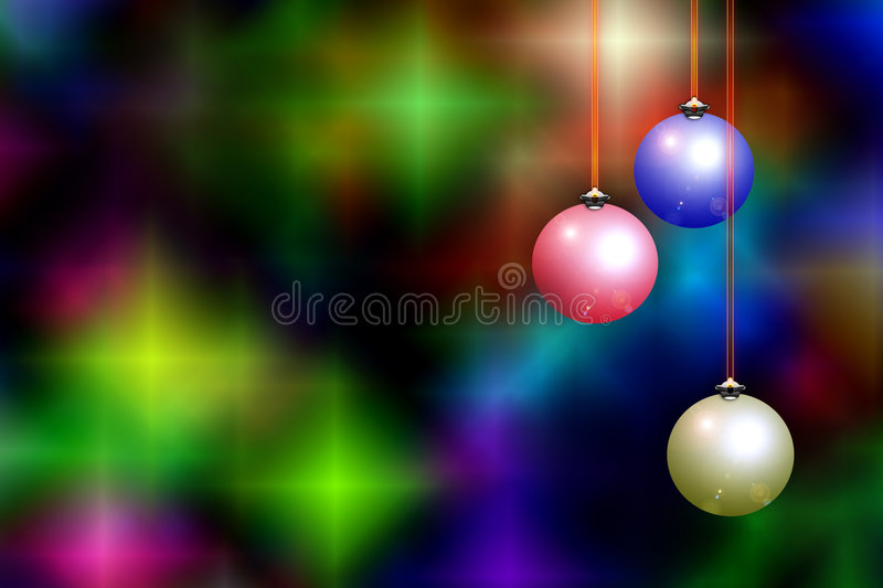 Christmas background & decorations royalty free illustration