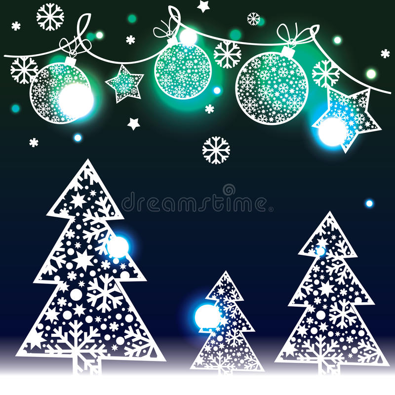 Download Christmas Background With Decorative Elements Stock Vector - Image: 34321490