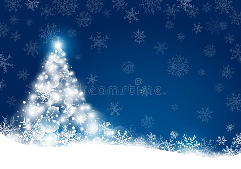 Christmas background design of snowflake with copy space stock illustration