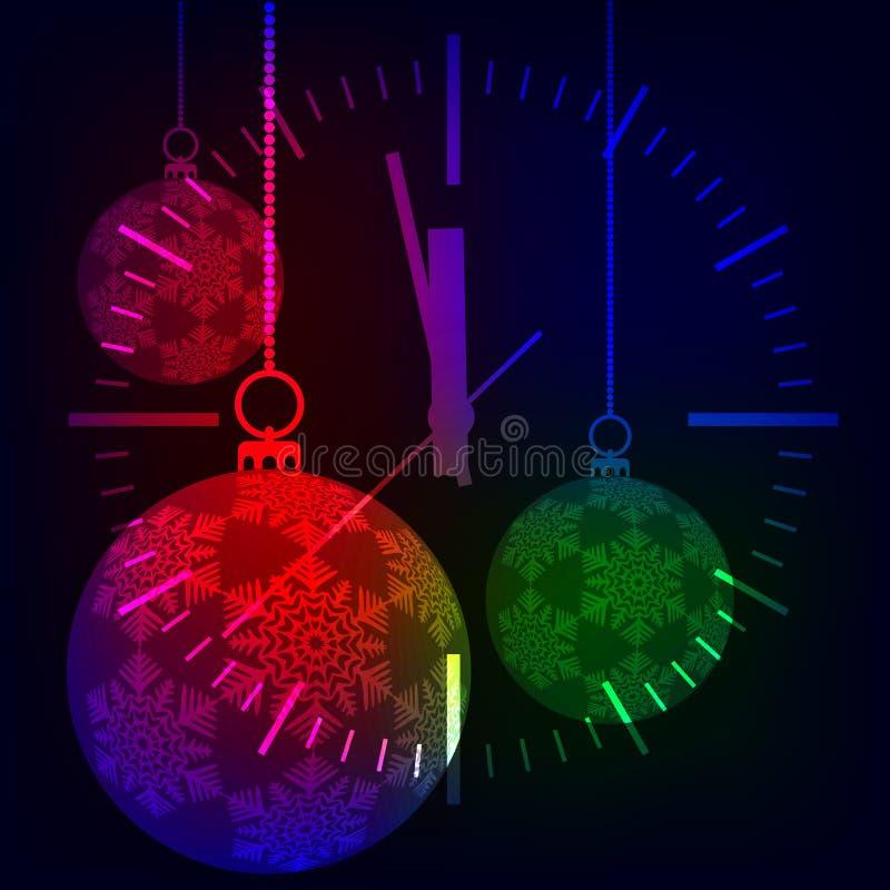 Christmas background. Festive balloons. stock illustration