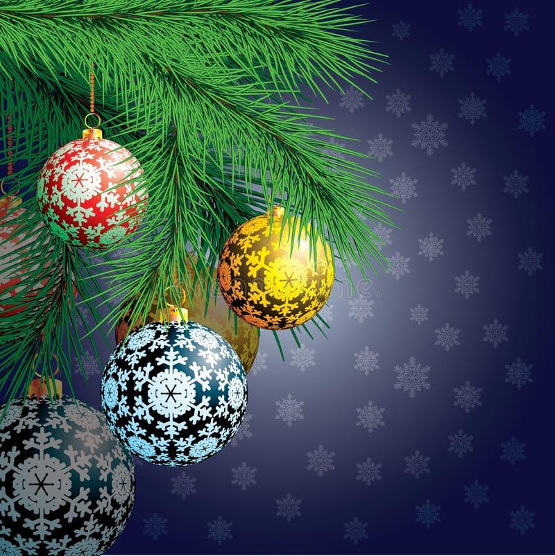 Christmas background. Festive balloons. royalty free illustration