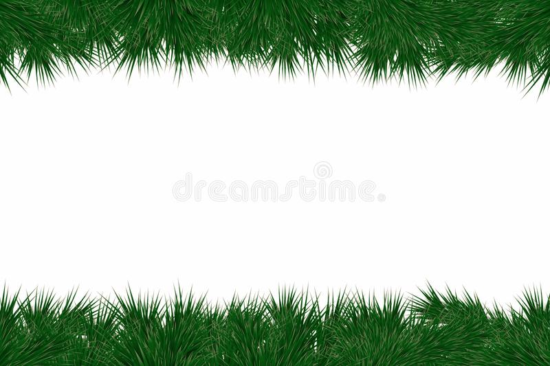 Christmas background with fir branches. Frame with christmas tree branches for decorating greeting cards, banners royalty free illustration