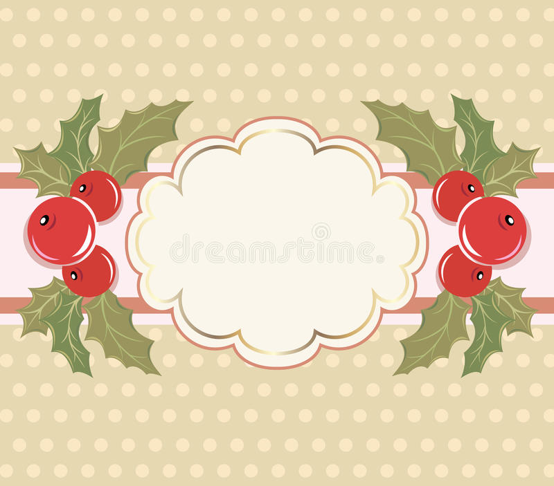 Christmas background with a frame. stock illustration