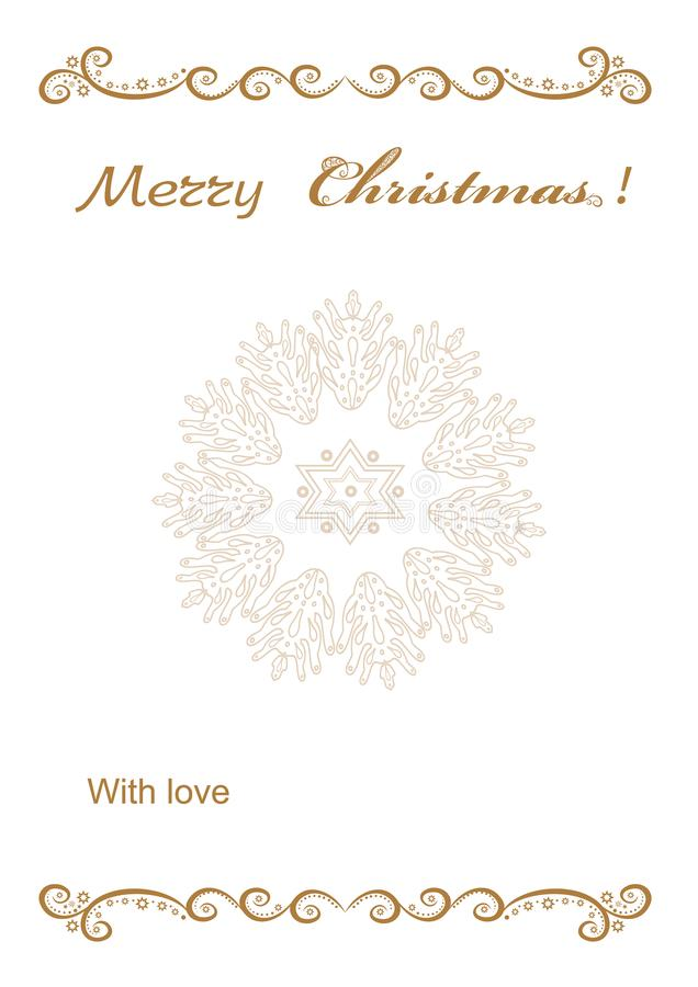 Christmas background frame for congratulation vector illustration