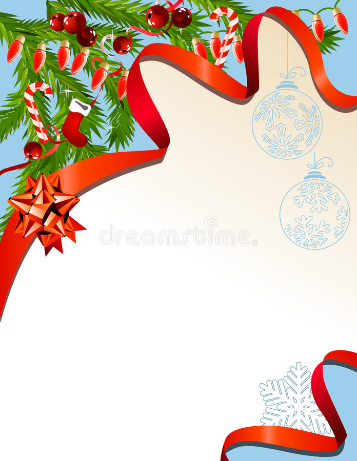 Download Christmas Background With Garland Stock Vector - Image: 21398311