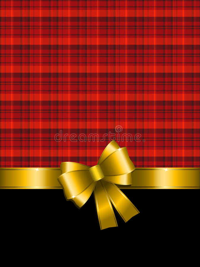 Download Christmas Background With Gold Bow Stock Vector - Image: 16948503