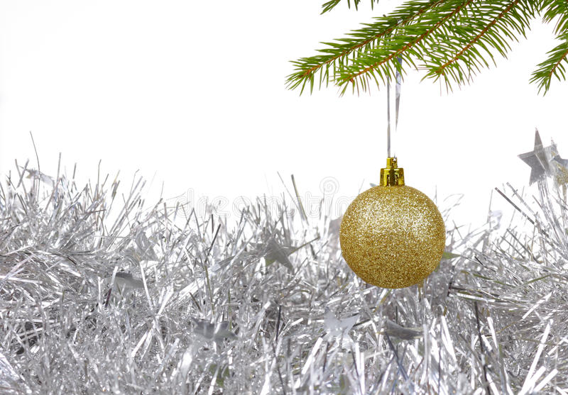 Download Christmas Background With Golden Decor Ball Stock Photo - Image: 27977624