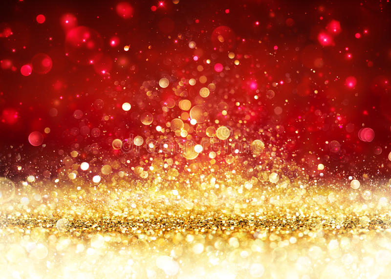 Christmas Background - Golden Glitter stock image